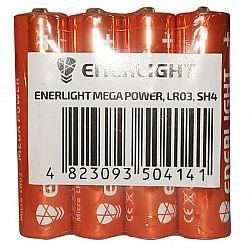 Батарейка ENERLIGHT MEGA POWER R3 щелочные 4шт п/у