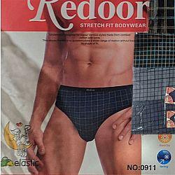 0911 Трусы мужские Redoor 3-х штучные (цена за спайку 12ед)